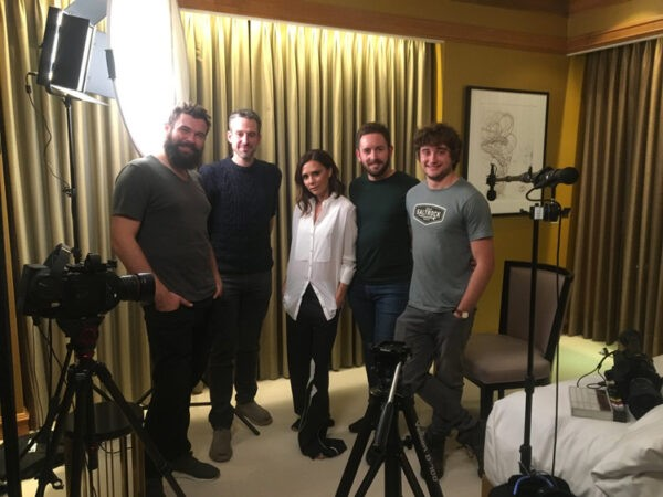 Post Production Crew with Victoria Beckham