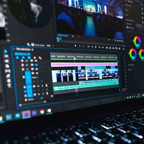 Adobe Premiere Pro video editing screen