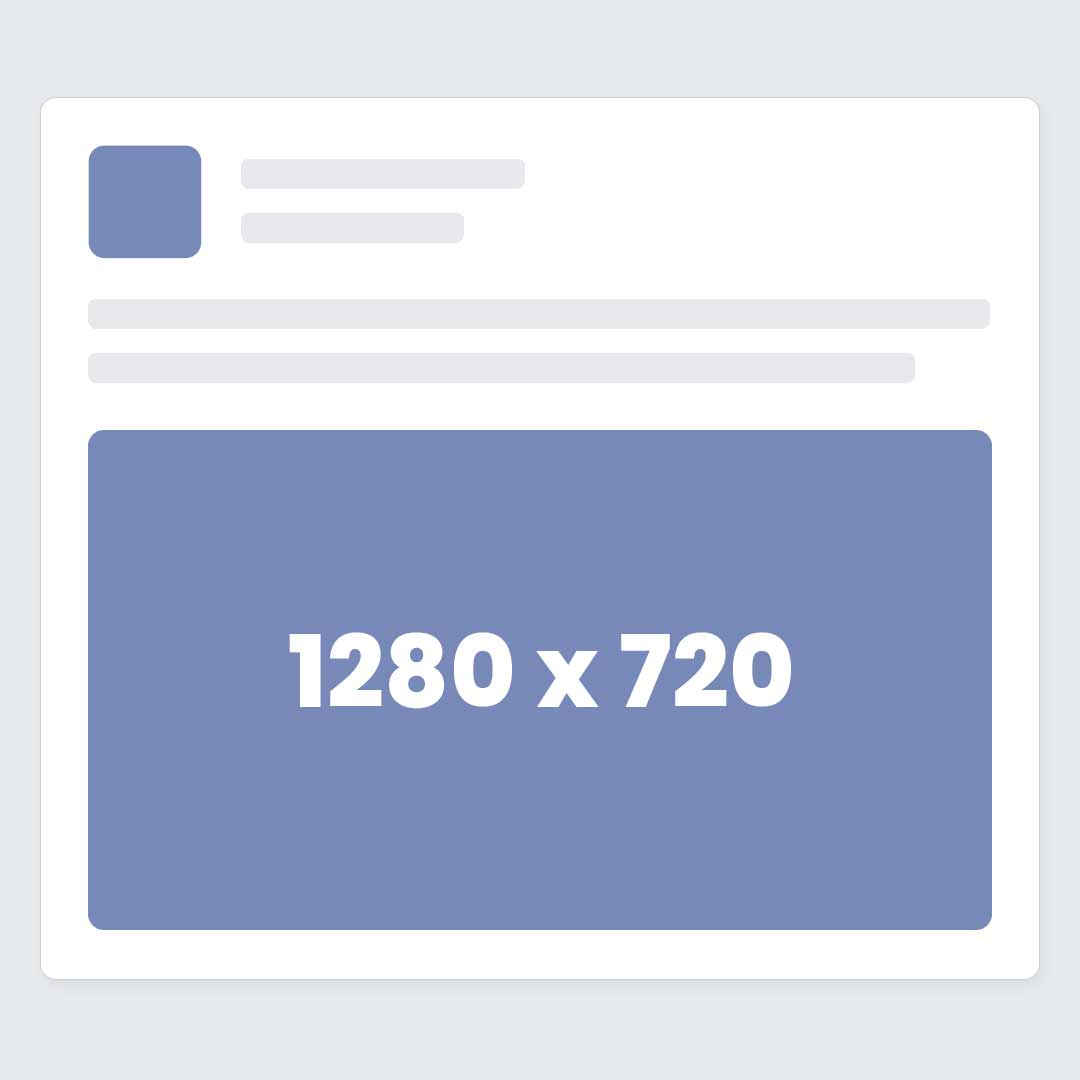 Facebook Wide Video Ad Size / Dimensions