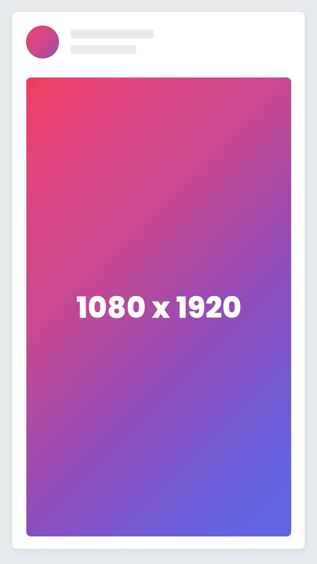 Instagram Vertical Video Ad Size / Dimensions